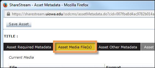 Asset Media File(s)
