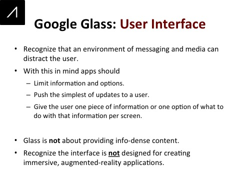 Google Glass Slide 19