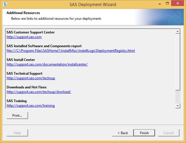 SAS Deployment Wizard: Additional Resources