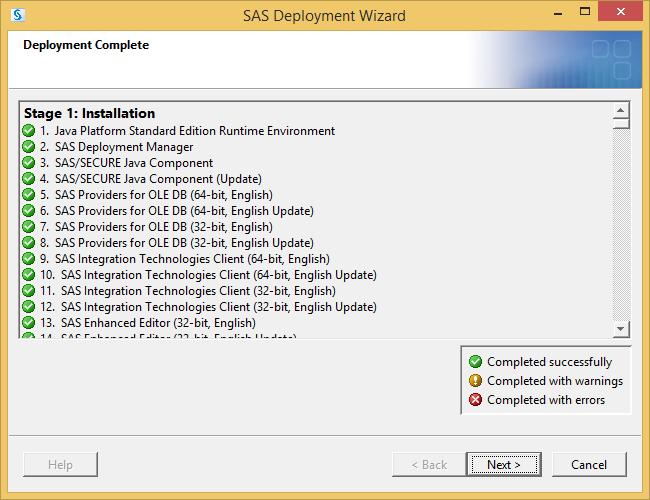 SAS 9.3 What Installed