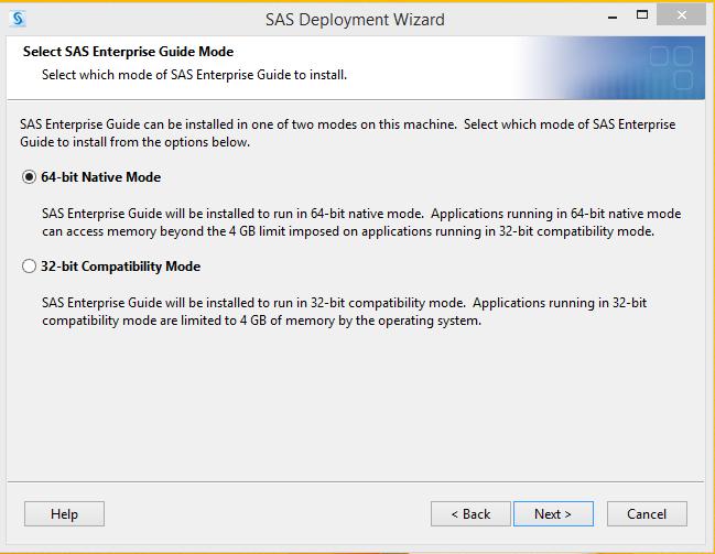 SAS 9.4 32 or 64 bit