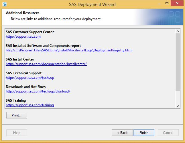 SAS 9.4 Additional Resources