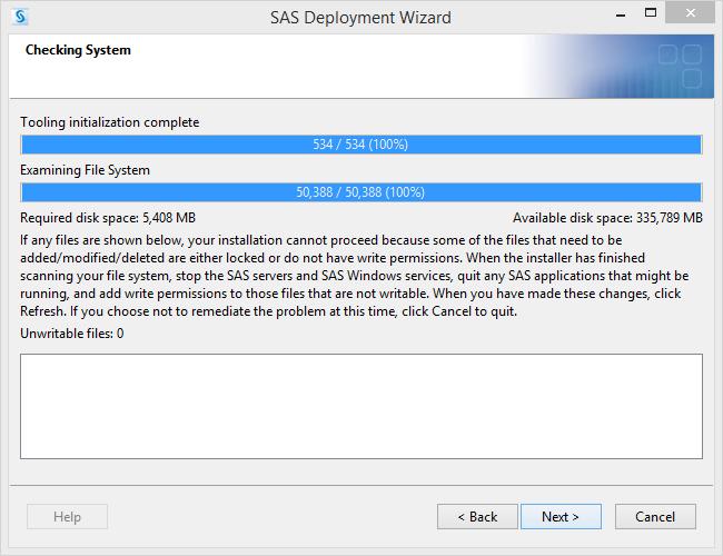 SAS 9.4 Checking System done