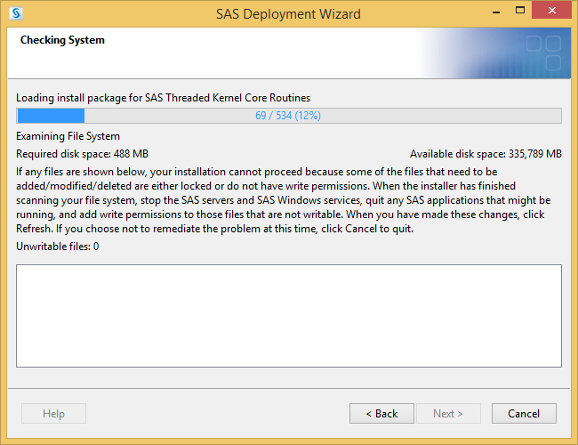 SAS 9.4 Checking System