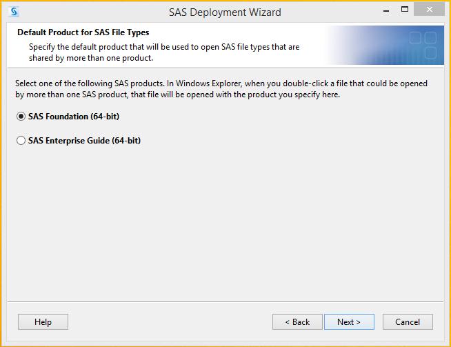 SAS 9.4 Default Product for SAS File Types