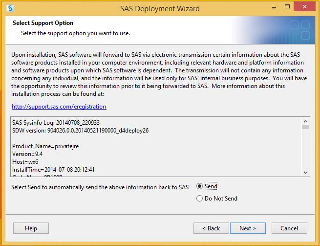 SAS 9.4 Select Support Option