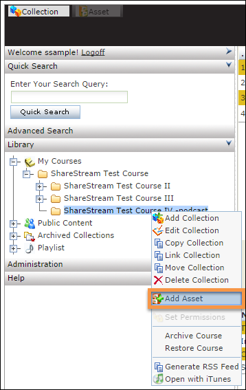 Highlighted - Add Asset