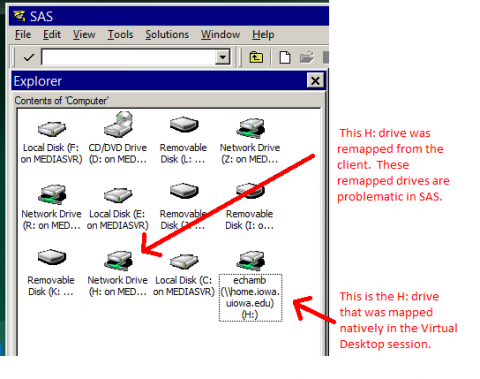 remapped drive