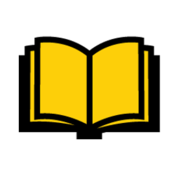 An open book with yellow pages
