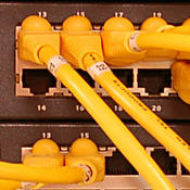 yellow cables and wires