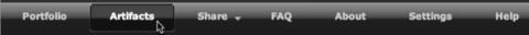 menubar cursor on artifacts