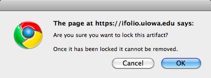 lock artifact warning message