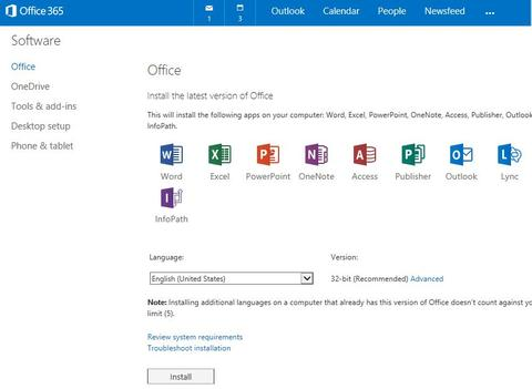 Install the latest version of Office