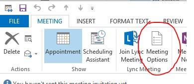 red circle around meeting options