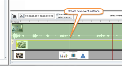 highlighted - create new event instance