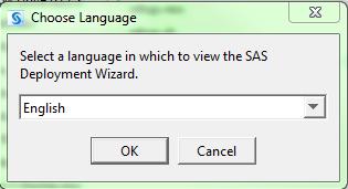 Choose Language window
