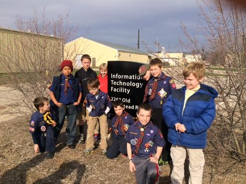 Scouts tour data center