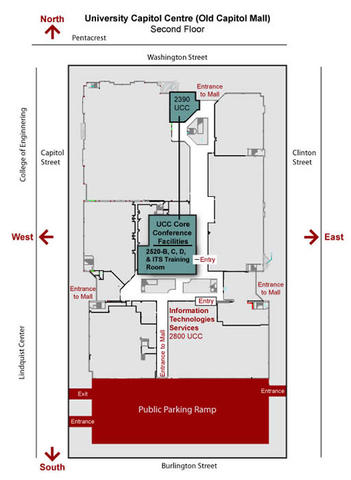 ucc second floor map