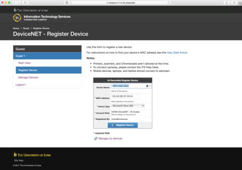 UI-DeviceNet Registration Dialog