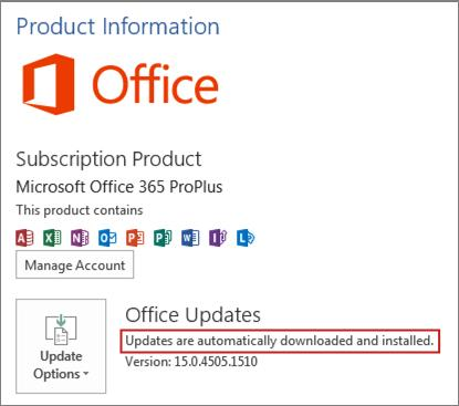 Nice Red Box Around Updates Are Automatically Downloaded And Installed.