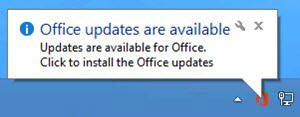 office updates are available message