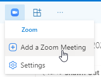 Add a Zoom Meeting