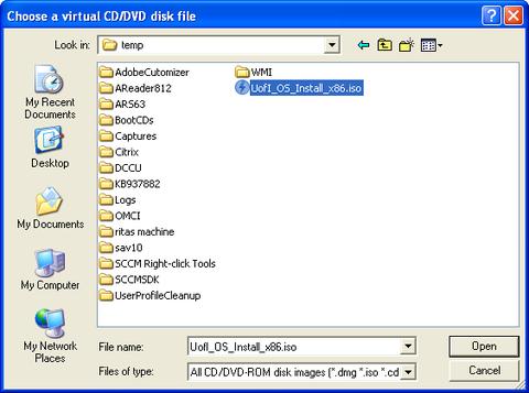 highlighted - UofI_OS_Install_x86.iso file