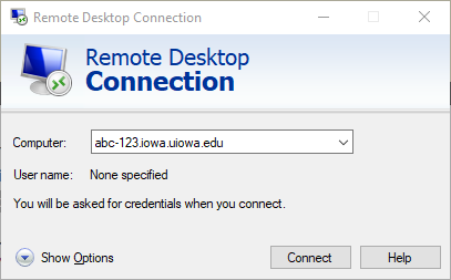 How to enter your device name in Remote Desktop application