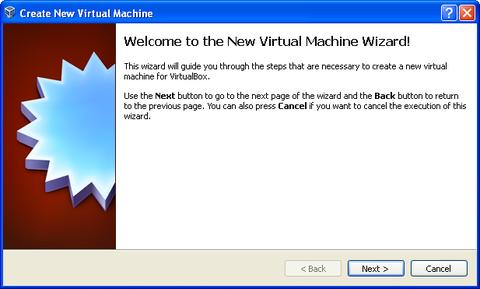 Create New Virtual Machine window. Next button highlighted.