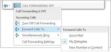 Forward Calls from Call Forwarding Button