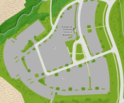 Hawkeye commuter lot access point
