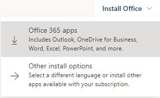 Install Office 365 Apps