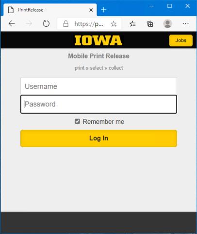 Mobile Print Release Login