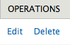 Operations Edit or Delete buttons