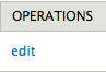 The Edit button under the Operations column