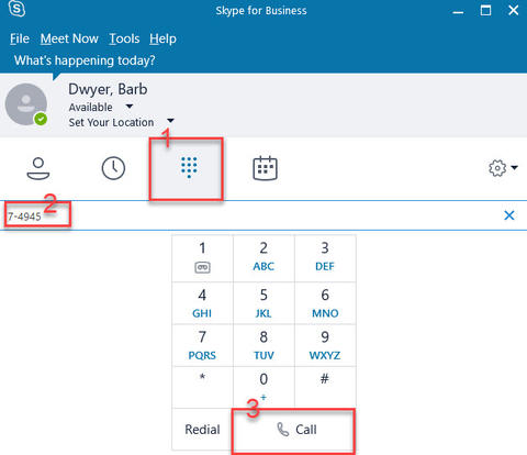 Basic Telephone Activities with Skype for Business (Windows