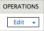 The edit button under Operations