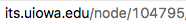 Node number in its website URL