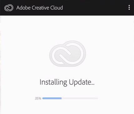 Adobe Creative Cloud Desktop Installing Update
