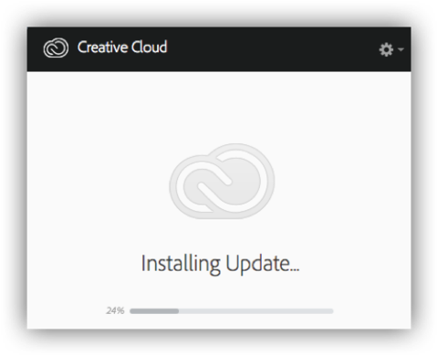 Creative Cloud update window
