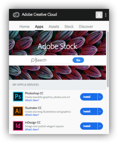 Adobe Creative Cloud update installation