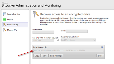 How to unlock an encrypted computer using the MBAM IT Admin