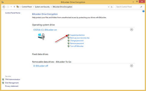 Updating the BIOS on a BitLocker Encrypted System