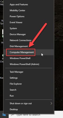 right click - computer management