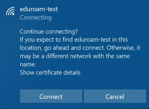 Windows Certificate Dialog