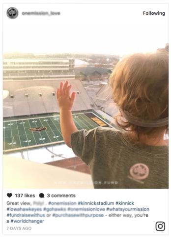 Screenshot of Instagram embed