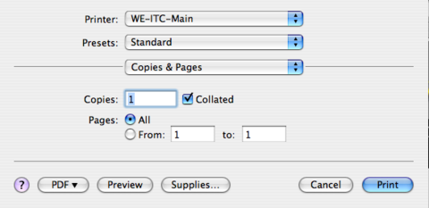 Number of copies highlighted. Print button highlighted.