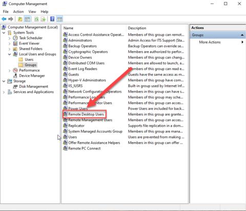 Remote Desktop User group