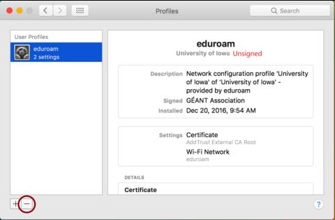 eduroam zertifikat