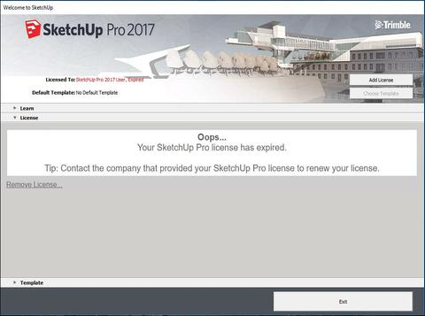 SketchUp Pro 2017 Licence Information | Information Technology Services